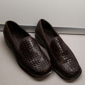 Eddie Bauer 5.5 slip on loafer dress shoes brown